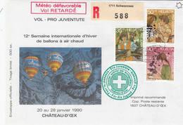 VOL BALLON   CHATEAU-D'OEX   1990 - Poste Aérienne
