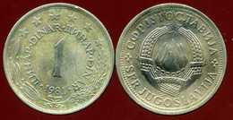 YOUGOSLAVIE  1 Dinar 1981 - Yougoslavie