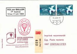 VOL BALLON   CHATEAU-D'OEX   1984 - Poste Aérienne