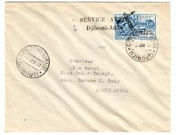 Côte Des Somalis Maury N° 140 Sur Très Belle Lettre De 1931. B/TB. A Saiisir! - Côte Française Des Somalis (1894-1967)