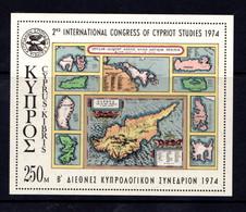 CYPRUS    1974    2nd  Congress  Of  Cypriot  Studies     Sheetlet    MNH - Cyprus (Republic)