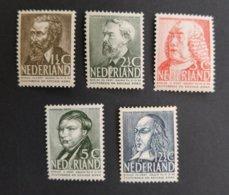 Netherlands/Nederland - NvPH No. 318/322 (1939) - Period 1891-1948 (Wilhelmina)
