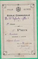 Distribution De Prix - Ecole Communale De Filles Saint Sylvestre  - Prix D'Honneur - La Directrice M. Fabre 1930 - Diplômes & Bulletins Scolaires