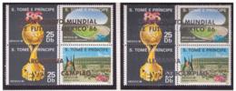 Sao Tomè Et Principe 1988 - MNH ** - Football - Coupe Du Monde Mexique '86 - Michel Nr. 1028-1035 Série Complète (stp058 - Sao Tome Et Principe