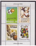 Sao Tomè Et Principe 1989 - MNH ** - Football - Coupe Du Monde Italie '90 - Michel Nr. 1116-1119 Série Complète (stp087) - Sao Tome Et Principe