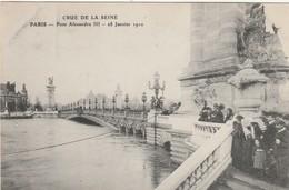 75 Paris.Inondation 1910. Pont Alexandre III. 28 Janvier 1910 - France