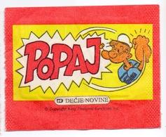 Unopened Packet Bustina Bag POPEYE Yugoslavia Edition - Stickers