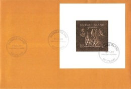 EASDALE/SCOTLAND - FDC GOLD + SILVER STAMP 5 POUNDS 1991 POPE JOHN PAUL II AFRICAN VISIT - Ortsausgaben