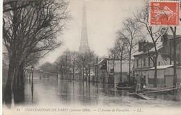 75 Paris.Inondation 1910.  L'Avenue De Versailles. Janvier 1910 - France