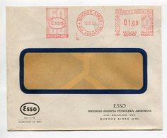 ESSO 50 ANIVERSARIO BUENOS AIRES ARGENTINA 1961 FRANQUEO PAGADO SOBRE BANDELETA PARLANTE -LILHU - Fábricas Y Industrias