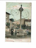 Cpa CUREL La Croix De La Fontaine Femme Et Enfants à La Pose Avec Seau- J Joly Photo Dos Non Divisé - Autres Communes