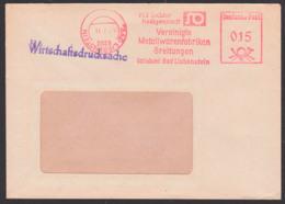 BAD LIEBENSTEIN, AFS =DP 015= 1979 Mit Kopfstehendem Tagesst.-Teil, VEB Solidor Heiligenstein Metallwaren Breitungen - [6] République Démocratique