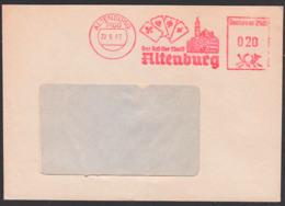 ALTENBURG, AFS =DP 020= 1987, Behörde Rat Der Stadt, Rathaus, Skatkarten Skat - Marcofilie - EMA (Print Machine)
