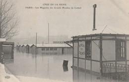 75 Paris.Inondation 1910.   Les Magasins Des Grand Moulins De Corbeil - France