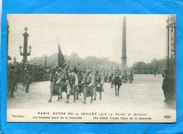 Guerre 14-18- PARIS-Revue Du 14 Juillert 1918-les Polonais Place De La Concorde+plan Animé -1916-édition  E L D - Guerre 1914-18