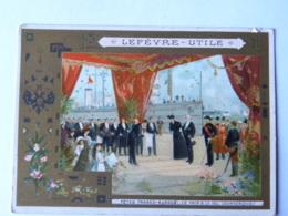Chromo LEFEVRE UTILE - Fête Franco Russes - Le Pain Et Le Sel (Dunkerque) - Confiserie & Biscuits