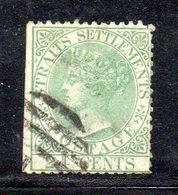 W488 - STRAITS SETTLEMENTS 1867,  Gibbons N. 16 Usato . CC - Straits Settlements