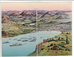 Cpa Carte Postale Ancienne  - Golfe De Salonique Carte Double - Grecia