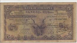 Ethiopia P. 7 5 Thalers Bank Of Ethiopia 1933 VERY SCARCE !! A/2 - Ethiopie