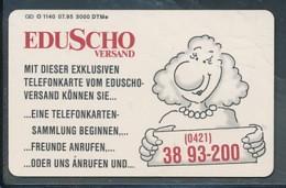 GERMANY Telefonkarte  O 1140 95 Eduscho - Auflage 5 000 Stück - Siehe Scan -15558 - Deutschland