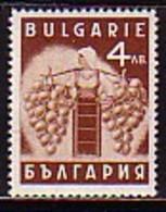 BULGARIA / BULGARIE - 1938 - Produits Nationaux - Raisin  - 1v** - 1909-45 Regno