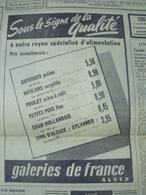 GALERIES DE FRANCE -ALGER-PUBLICITÉ ISSUE D'UN ANCIEN JOURNAL - Ex-libris