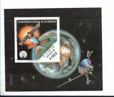 CHILE YEAR 1993,  SPACE CONFERENCE OF AMERICA, SOUVENIR SHEET,  MICHEL BL28 SCOTT 1043a - Chile