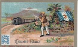 Chromo Chocolat Klauss .. Guatemala .. Train Explorateur - Chocolat