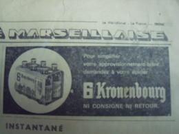 KRONNENBOURG- NI CONSIGNE NI RETOUR -PUBLICITÉ ISSUE D'UN ANCIEN JOURNAL - Ex-libris