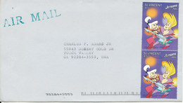St. Vincent Cover Sent Air Mail To USA 1990 - St.Vincent (1979-...)