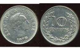 COLOMBIE 10 Centavos 1972 - Colombie