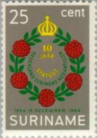 Suriname 1964 10 Jaar Koninkrijks Statuut - NVPH 419 Ongestempeld - Suriname ... - 1975