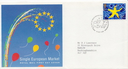 Great Britain Stamp On Used FDC - Other