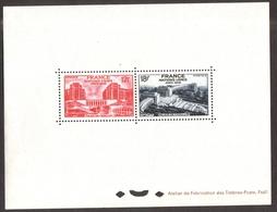 FRANCE 1948 - ONU & Palais Du Chaillot  , Yvert#818/19  - Bloc Feuillet , Gommé - Neufs  * ( Cote  650 EUr ) -  RARE - Nuevos