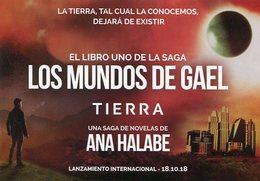 LOS MUNDOS DE GAEL TIERRA SAGA LIBRO ANA HALABE ARGENTINA 2008 TARJETA PUBLICIDAD -LILHU - Reclame