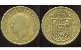 ROUMANIE 5 Lei 1930 - Roumanie