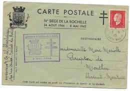 LA ROCHELLE 1945 / N° 693  LIBERATION DE LA FORTERESSE... - Marcophilie (Lettres)