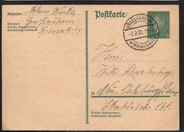 DR DEUTSCHES REICH POSTKARTE 1931. GROSSAUHEIM KR HANAU - Germania