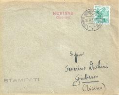 "Sonderstempel  ""Herisau - Obstmarkt""          1937 - Lettres & Documents"
