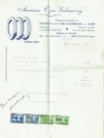 Facture. American Tyre Vulcanizery. Pneus Et Chambres à Air, Bruxelles. Timbres Fiscaux. 1929. - Bélgica