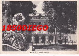 AVERSA - TEATRO CIMAROSA F/GRANDE VIAGGIATA 1954 ANIMAZIONE - Aversa