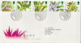 Great Britain Set On Used FDC - Orchids