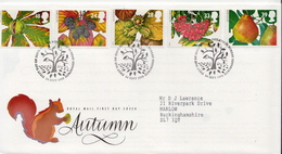 Great Britain Set On Used FDC - Fruits