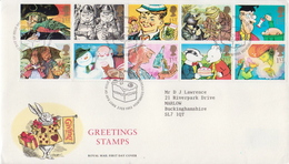 Great Britain Set On Used FDC - Fairy Tales, Popular Stories & Legends