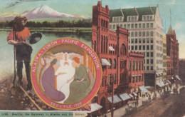 1909 Alaska-Yukon-Pacific Expostion, Seattle Washington, Gold Mining, Street Scene, C1900s Vintage Postcard - Exhibitions
