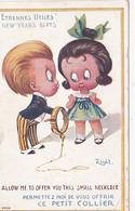 """CPA Enfants Etrennes Utiles """"Offrir Ce Petit Collier"""" Humour Fantaisie Illustrateur RIGHT - Right"""