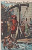 Lot Of 8 Postcards, German Medieval Public Punishments 'Ad J' Artist Images, Cards Dice Demon Etc. - Customs