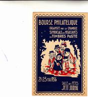 Bourse Philatelique Organisèe Par La Chambre Syndicale Des Negociants En Timbres Poste  1936 Post Card Inused - Francobolli (rappresentazioni)