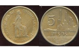 COLOMBIE 5 Pesos 1980 - Colombie