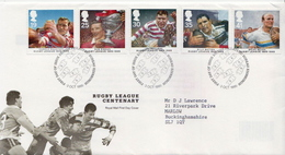 Great Britain Set On Used FDC - Rugby